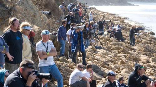 Fotógrafos de olho no mar!